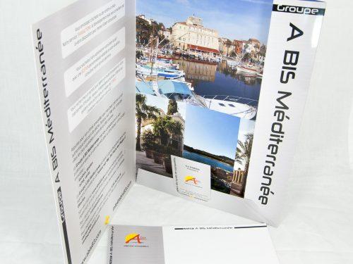 Groupe A BIS Méditerranée imprimerie pochette à rabat